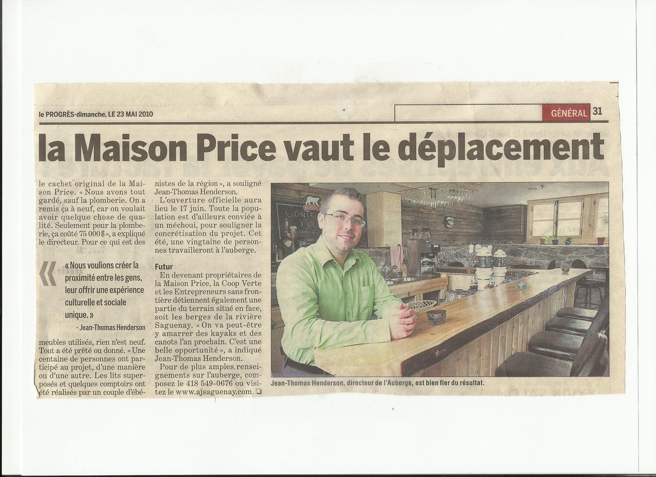 La maison price vaut le d placement coop rative de for Auberge de jeunesse la maison price
