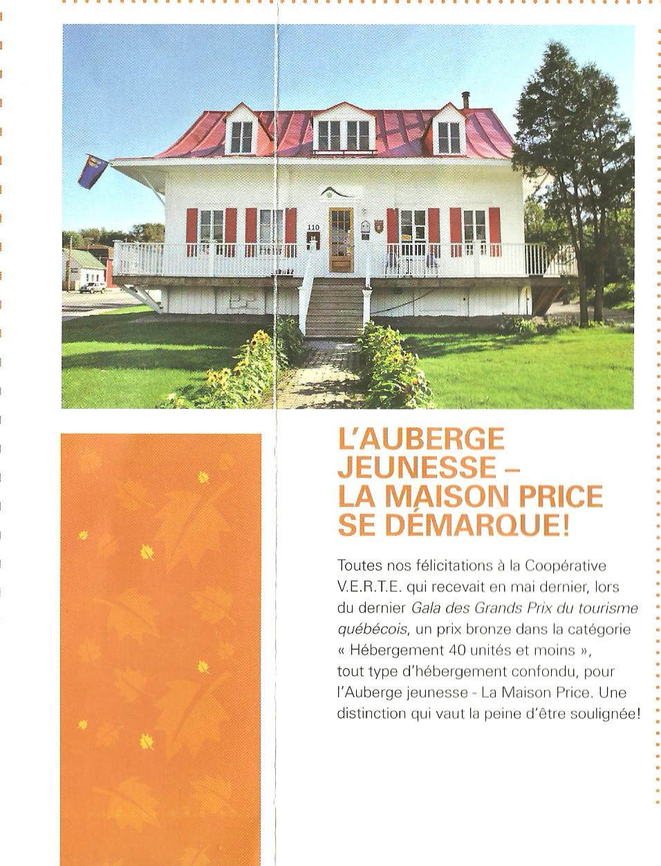 M dias presse coop rative de solidarit v e r t e for Auberge jeunesse de saguenay la maison price